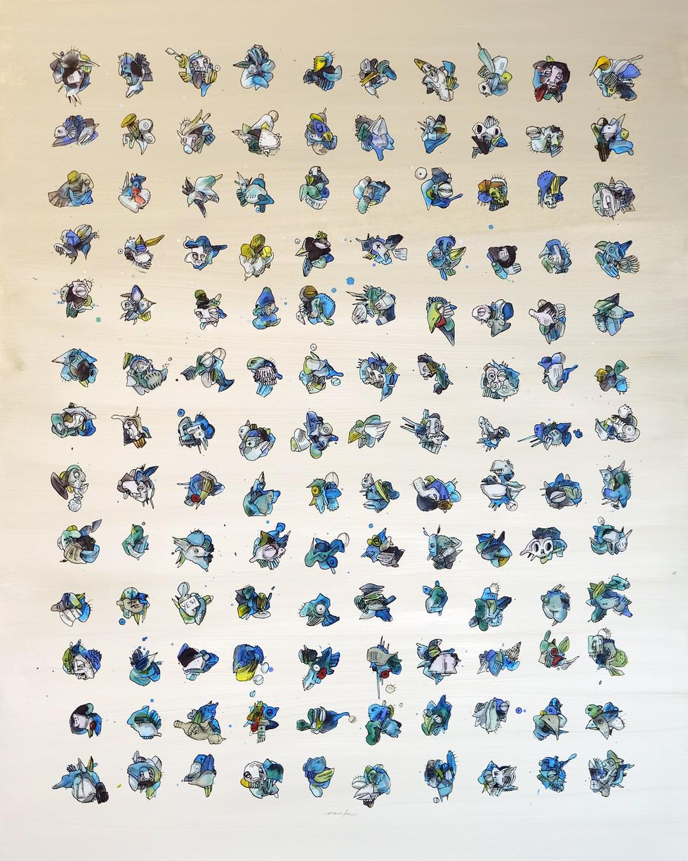 "Peer Kriesel Keramikwüste (aus der Serie ""Essences"") 2020 Acryl auf Leinwand, 100 x 80 cm"