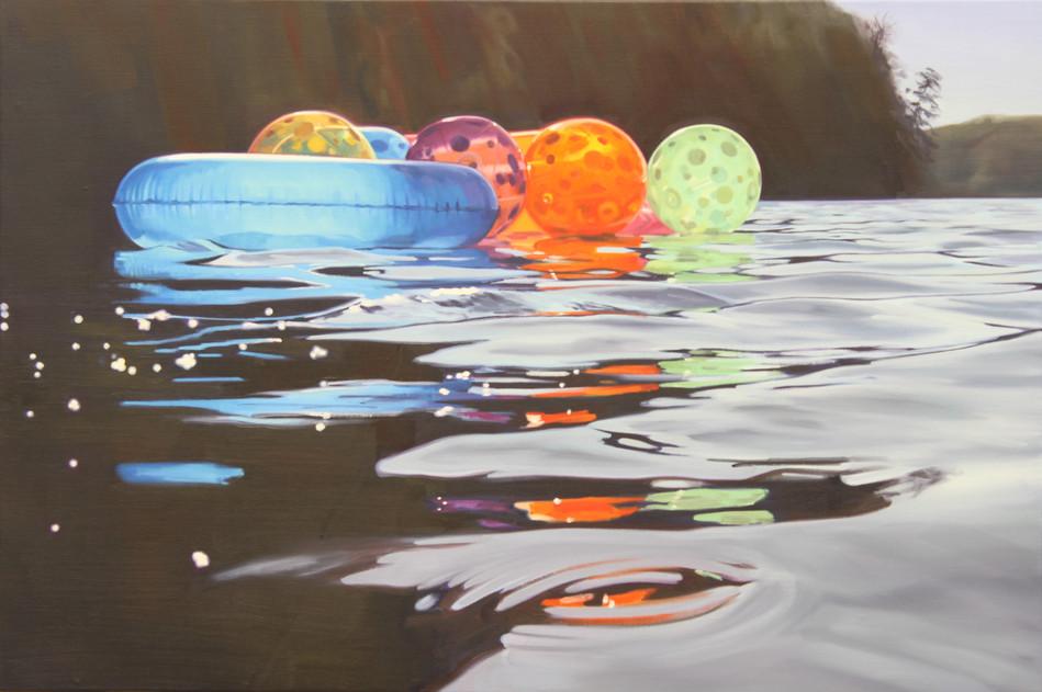Cameron Rudd Ball Study 2018 Öl auf Leinwand 80 x 120 cm - verkauft -