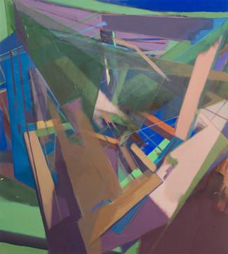 Christoph Kern Vorix 2019 Eitempera, Öl, Pigmente auf Nessel 100 x 90 cm