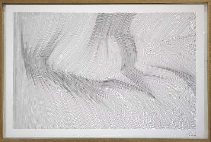 John Franzen Each Line one Breath 2019 Fineliner auf Papier 80 x 120 cm