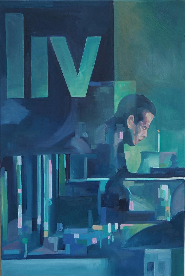 Felix Eckardt liv 2016 Öl auf Leinwand 90 x 60 cm
