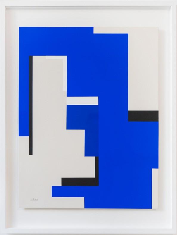 René Galassi Kanaga 2020 Acryl auf Karton 84 x 63 cm