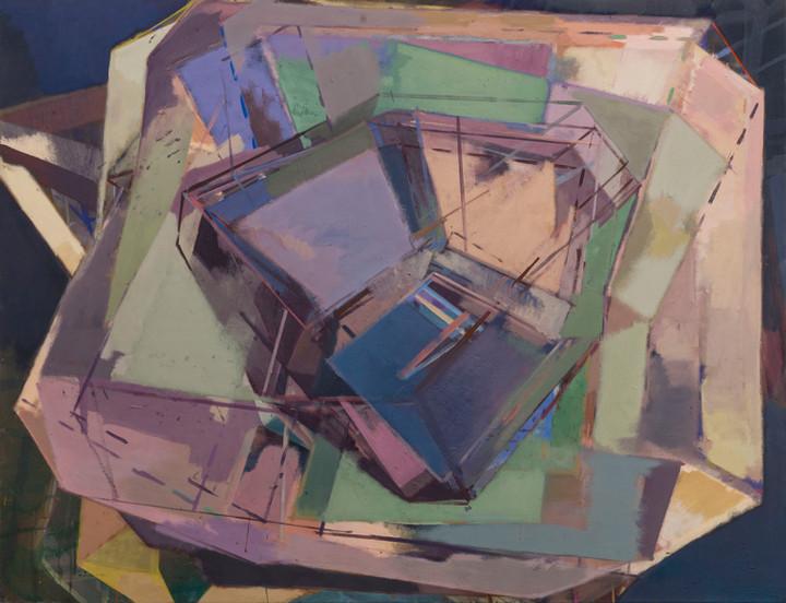 Krnard konvektion 2019 Eitempera, Öl und Pigmente auf Leinwand 120 x 120 cm