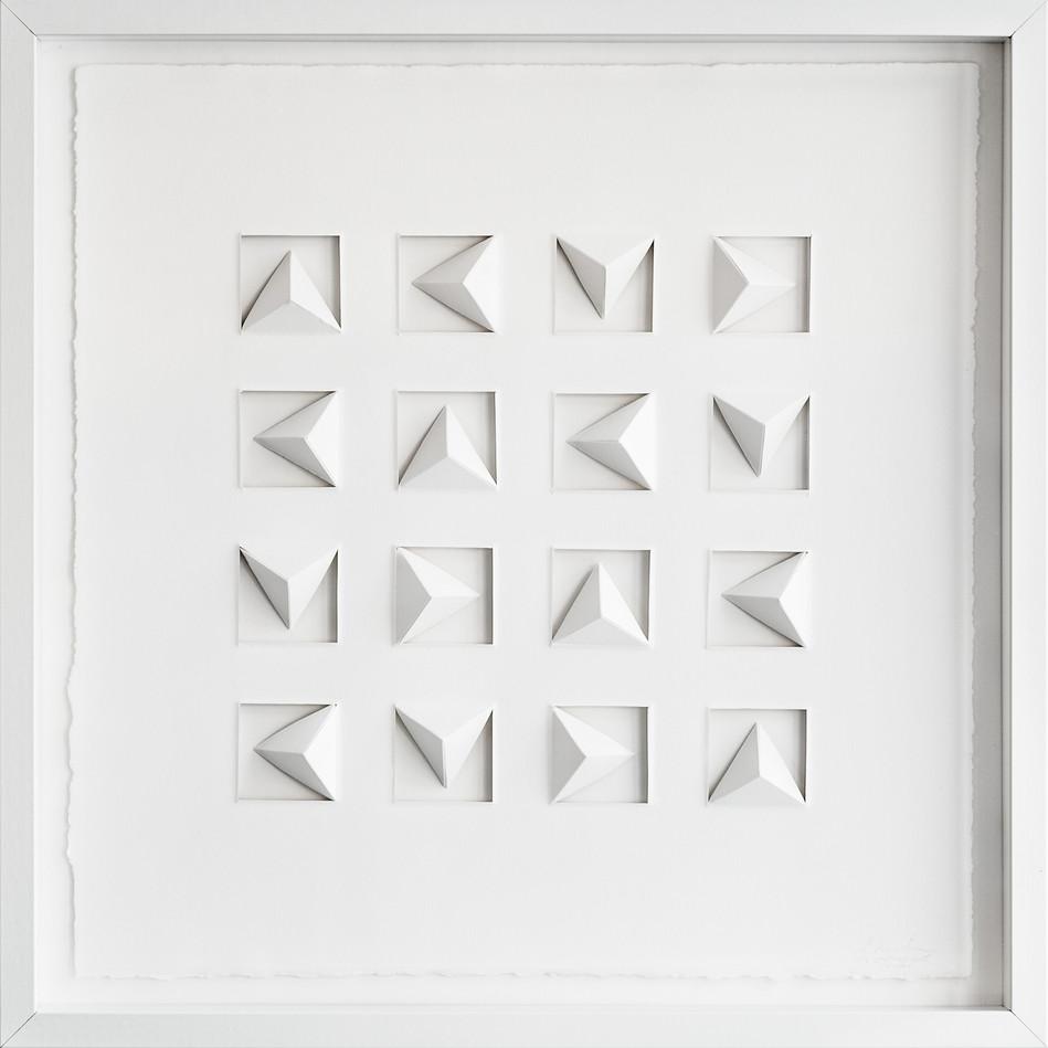 Ralph Kerstner Pythago Dust 2015 Prägung in Büttenpapier 50 x 50 cm
