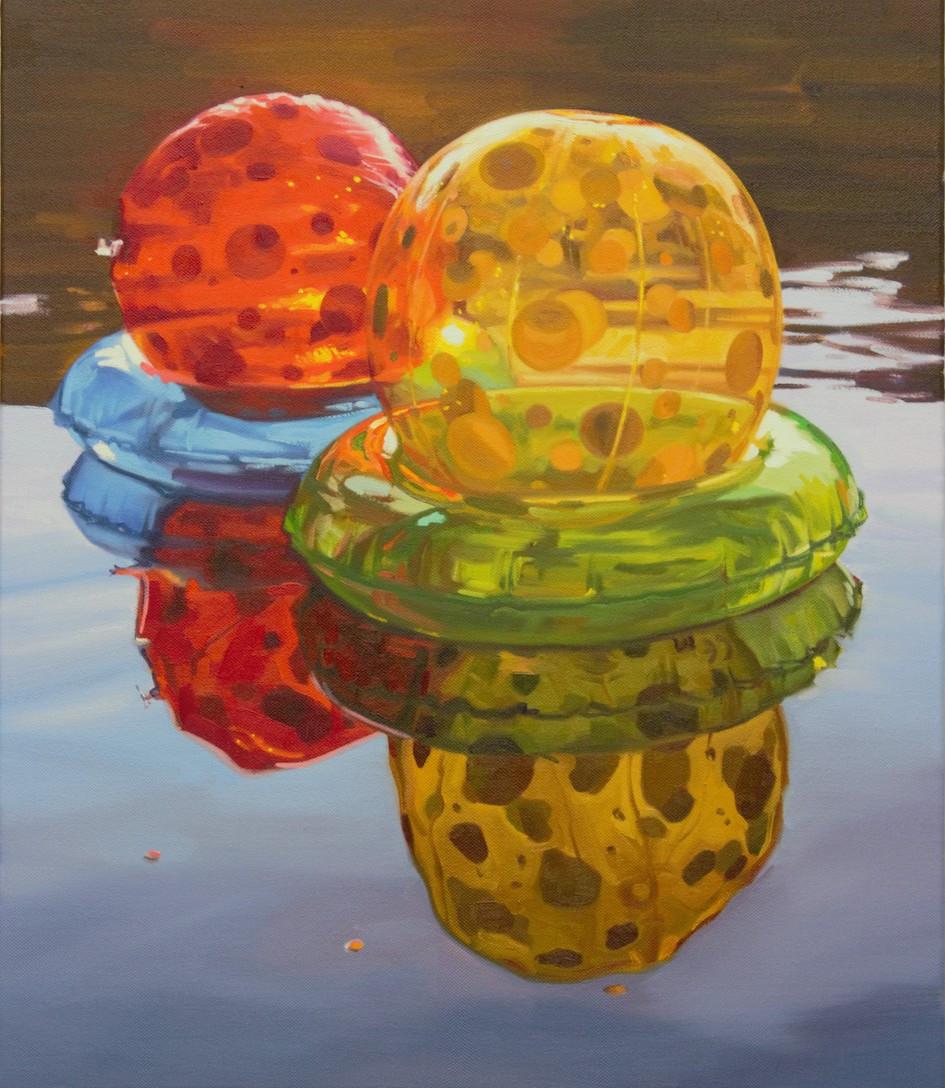 Cameron Rudd Colour Boarders 2019 Öl auf Leinwand 70 x 60 cm