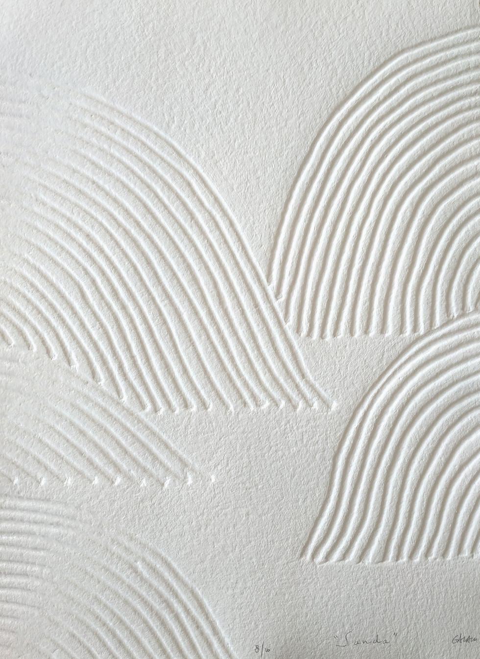 Sanda Papierreliefabdruck, 20 Ex., 77 x 56 cm, verso sign. & num.