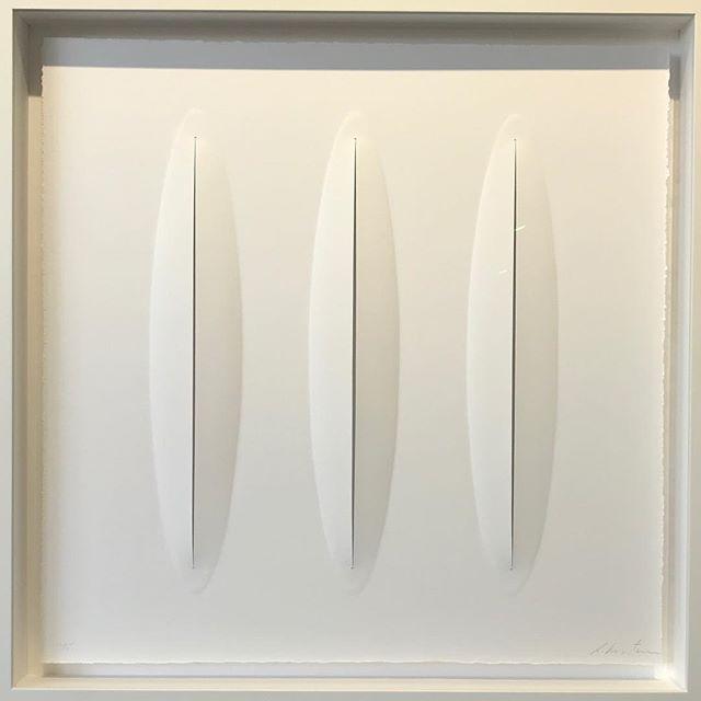 Ralph Kerstner Lucio 2019 Prägung in Büttenpapier 85 x 85 cm