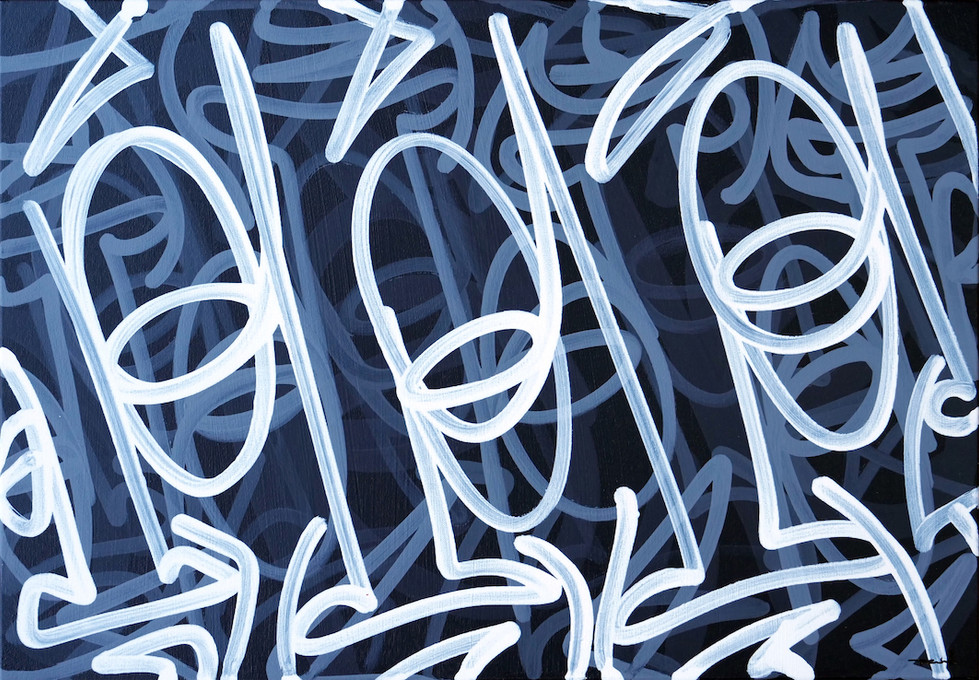 FRTZNABSTRCTN No 133 2019 Acryl auf Leinwand 50 x 70 cm