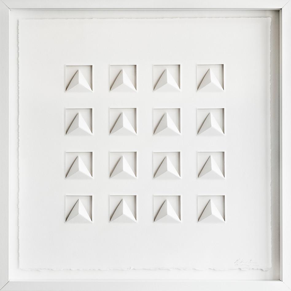 Ralph Kerstner Pythago 2015 Prägung in Büttenpapier 50 x 50 cm