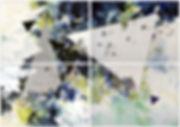 Bunte Zeichnung Berliner Künstler Peer Kriesel Künstliche Verdichtung 140 x 200cm