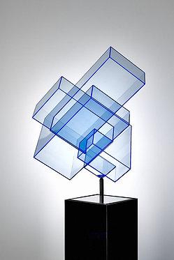 """Ralph Kerstner """"Candy Cube"""" (blue)"""