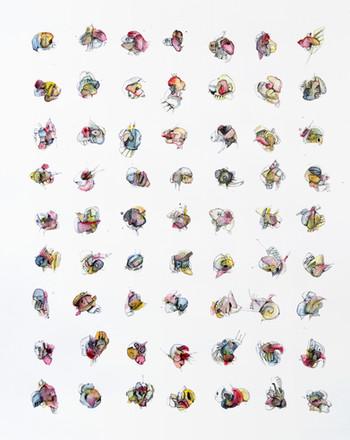 Peer Kriesel Auf den Untertitel kommt es an 2020 Mischtechnik auf Papier 50 x 40 cm