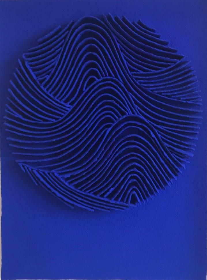 Calicots et pigments 2019 handgeschöpftes Papier, Pigmente, Acrylfarbe 84 x 66 cm - verkauft