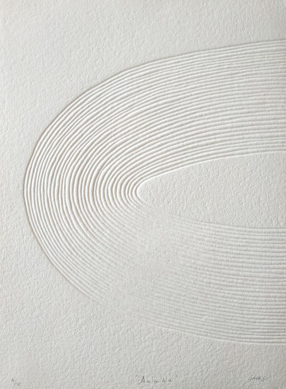 Anada Papierreliefabdruck, 20 Ex., 77 x 56 cm, verso sign. & num.