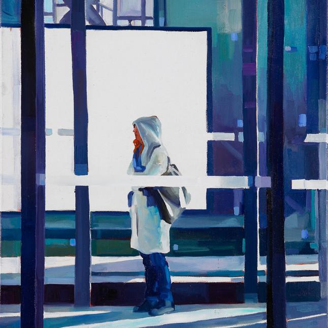Girl in winterlight 2011 Öl auf Leinwand 50 x 40 cm