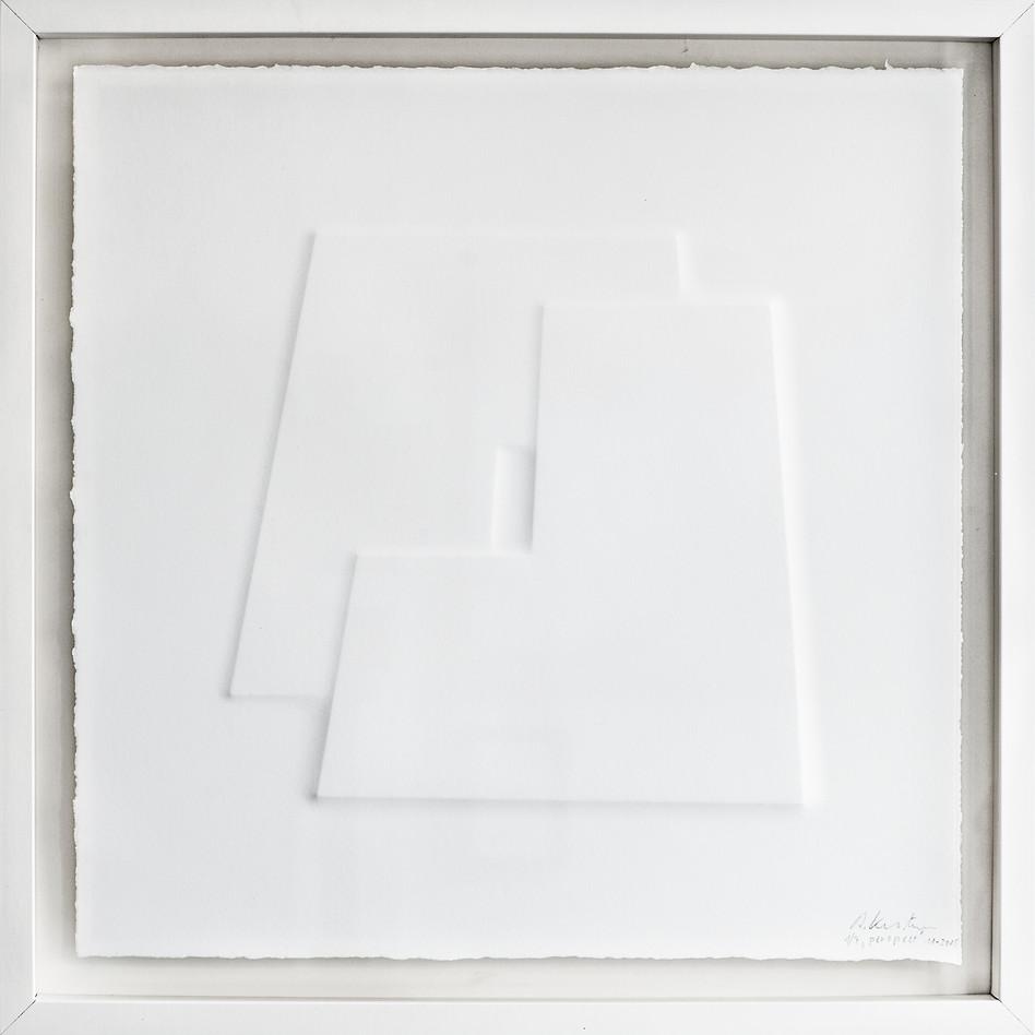 Ralph Kerstner Perspect 2015 Prägung in Büttenpapier 50 x 50 cm