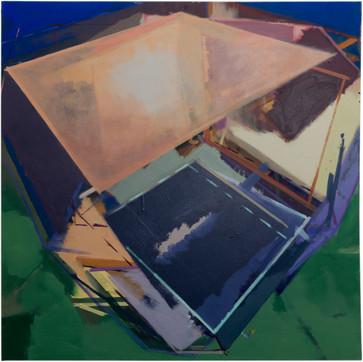 Christoph Kern Juno Base II 2018 Eitempera, Öl, Pigmente auf Nessel 80 x 80 cm