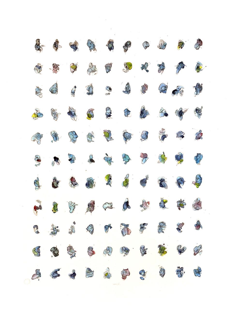 110 Essences 2019 Mischtechnik auf Papier 100 x 70 cm verkauft