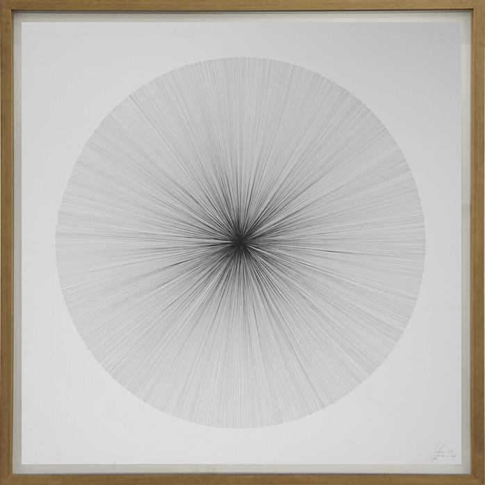 John Franzen Each Line one Breath 2017 Fineliner auf Papier 130 x 130 cm