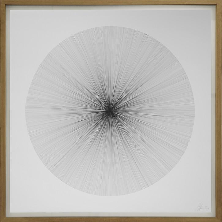 John Franzen Each Line one Breath 2017 Fineliner auf Papier 122 x 122 cm