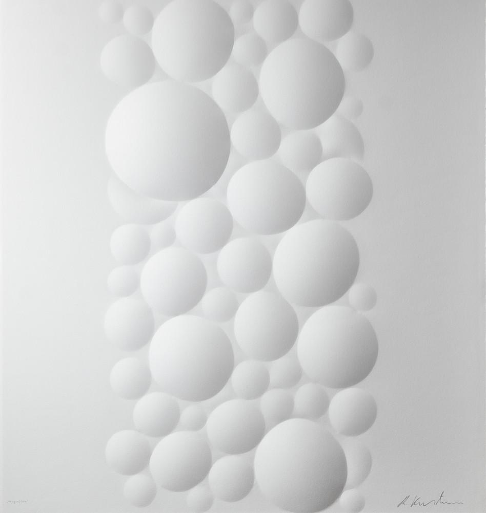 Ralph Kerstner Oxygen Flow 2019 Prägung in Büttenpapier 85 x 85 cm Auflage 7 Ex.