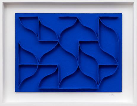 Calicots et pigments 2019 handgeschöpftes Papier, Pigmente, Acrylfarbe 74 x 94 cm