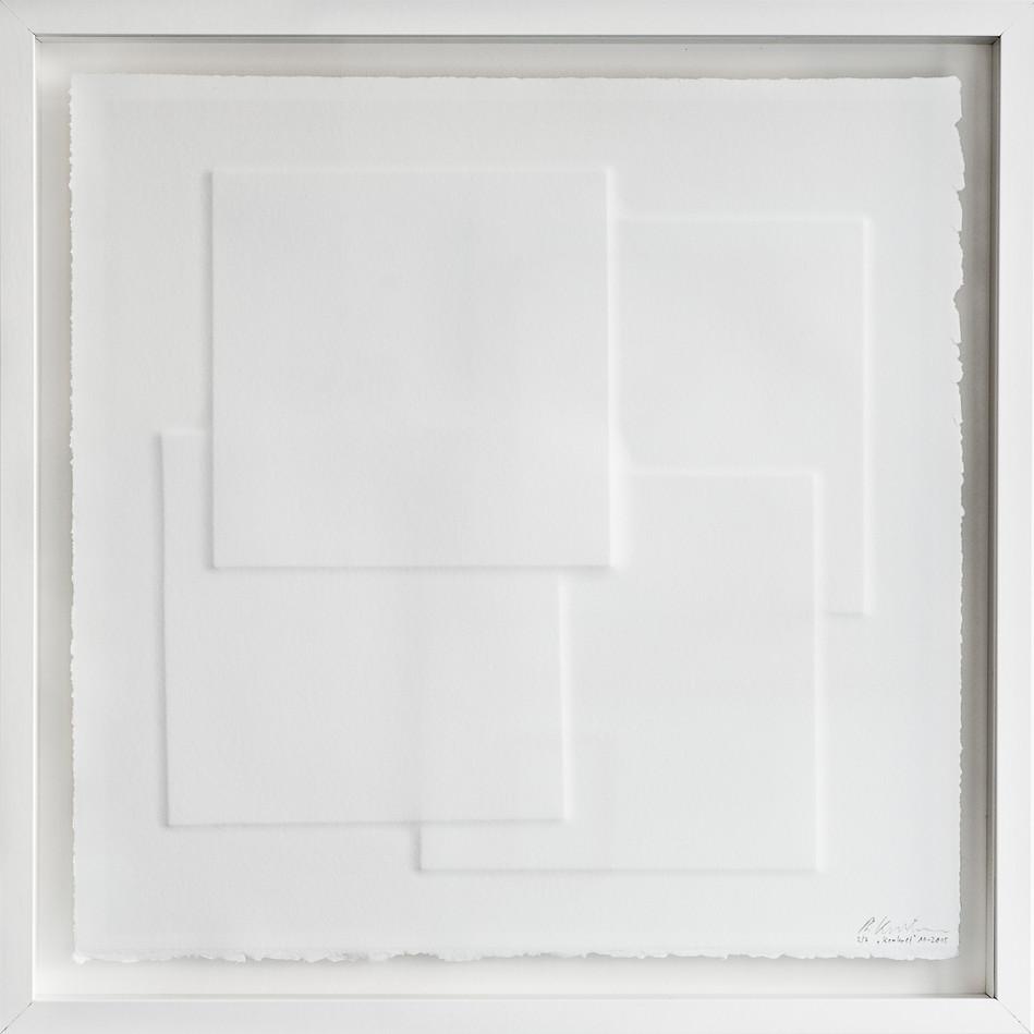Ralph Kerstner Konkret 2015 Prägung in Büttenpapier 50 x 50 cm