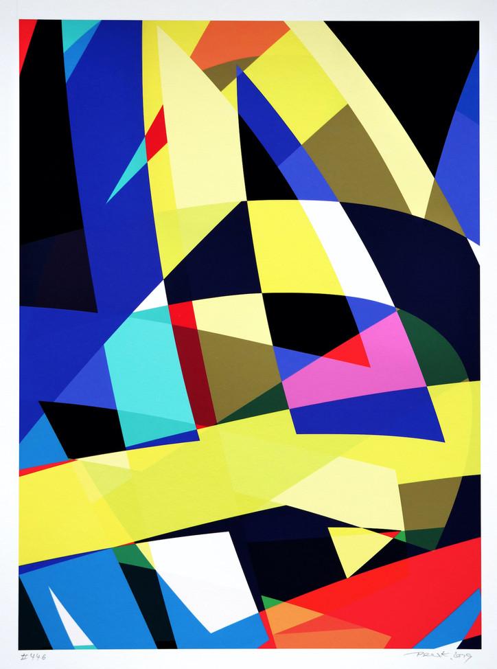 Peer Kriesel FRTZNABSTRCTN No 446 2019 Pigmentdruck auf Papier 36 x 26 cm