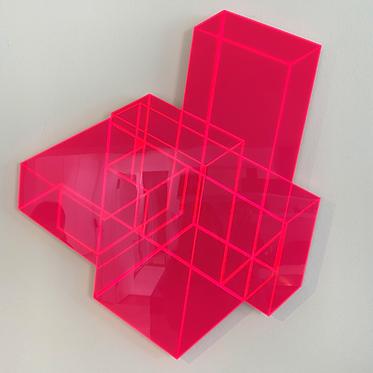 """Ralph Kerstner """"Candy cube 2D"""" (rot)"""