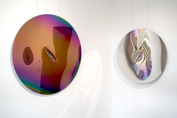 """Installationsansicht """"Lines and Reflection"""" 04.09.-06.11.2020"""