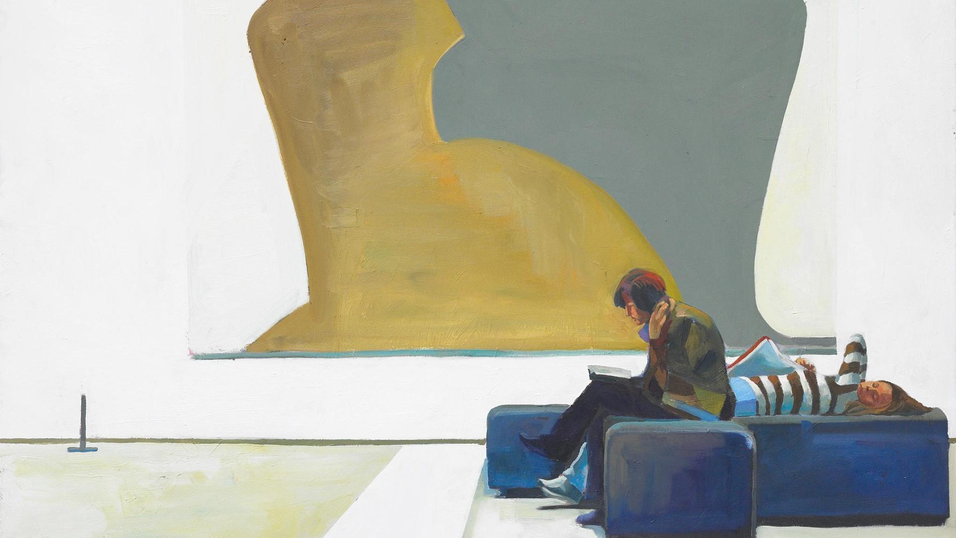 Felix Eckardt Art break 2009 Öl auf Leinwand 70 x 100 cm