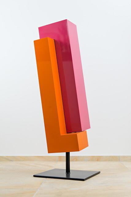Ralph Kerstner Stahlskulptur (orange/rosa)