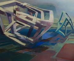 Oaxa rev 2018 Eitempera, Öl und Pigmente auf Leinwand 150 x 180 cm