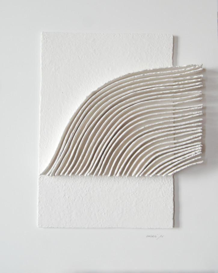 Calicot et pigments N°21 handgeschöpftes Papier, Pigmente 130 x 100 cm - verkauft