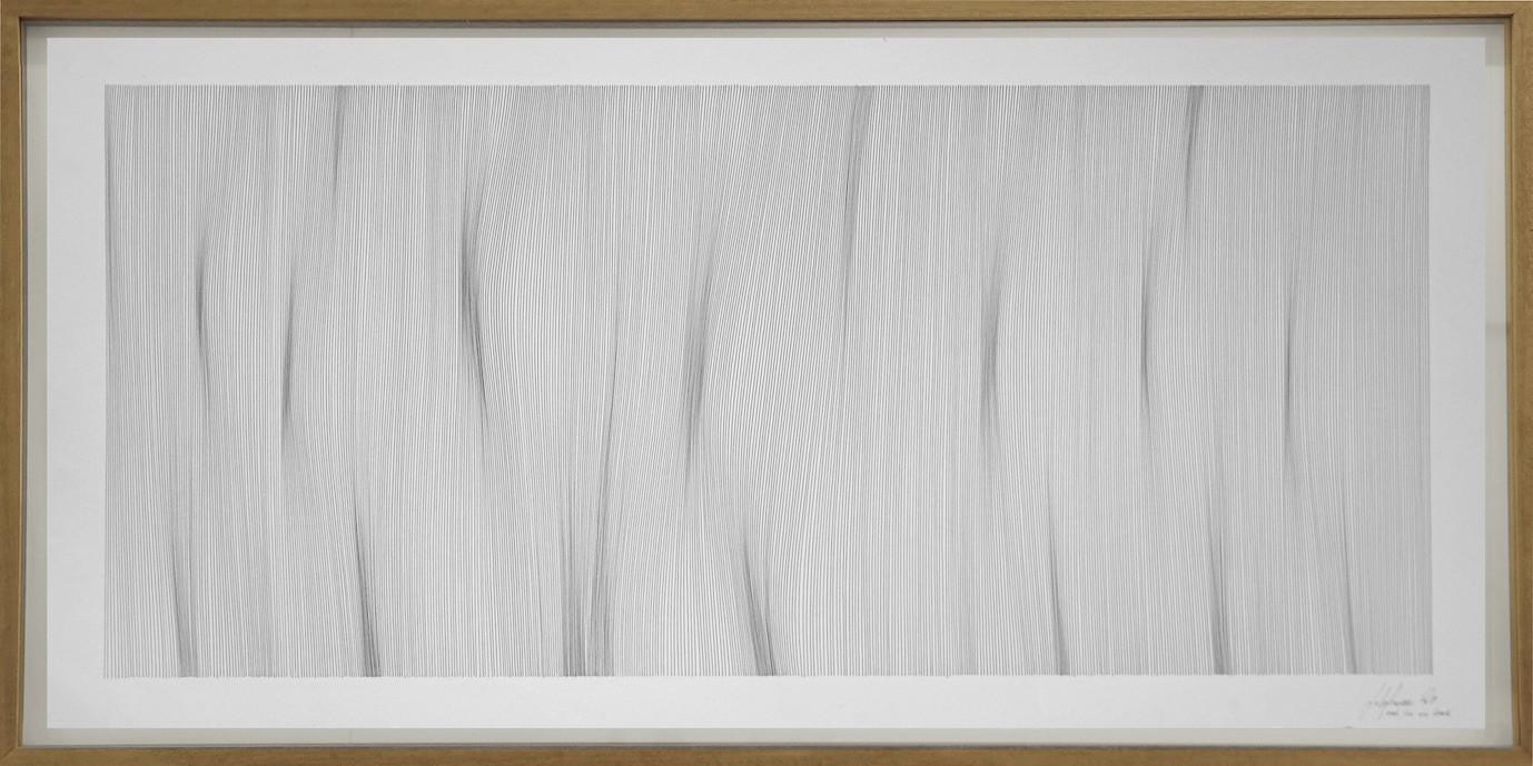 John Franzen Each Line one Breath 2019 Fineliner auf Papier 60 x 120 cm