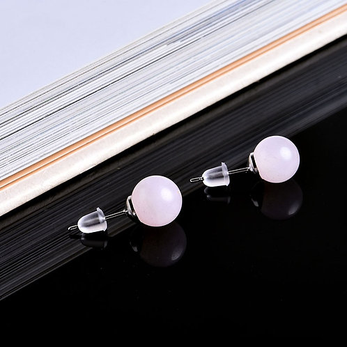 Natural Crystal Stud Earrings