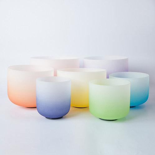 10 Inch Half Color Quartz Crystal Sound Bowl