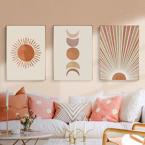 Sun and Moon Canvas Prints