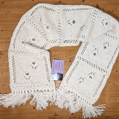 Paw Print Scarf with Pearls