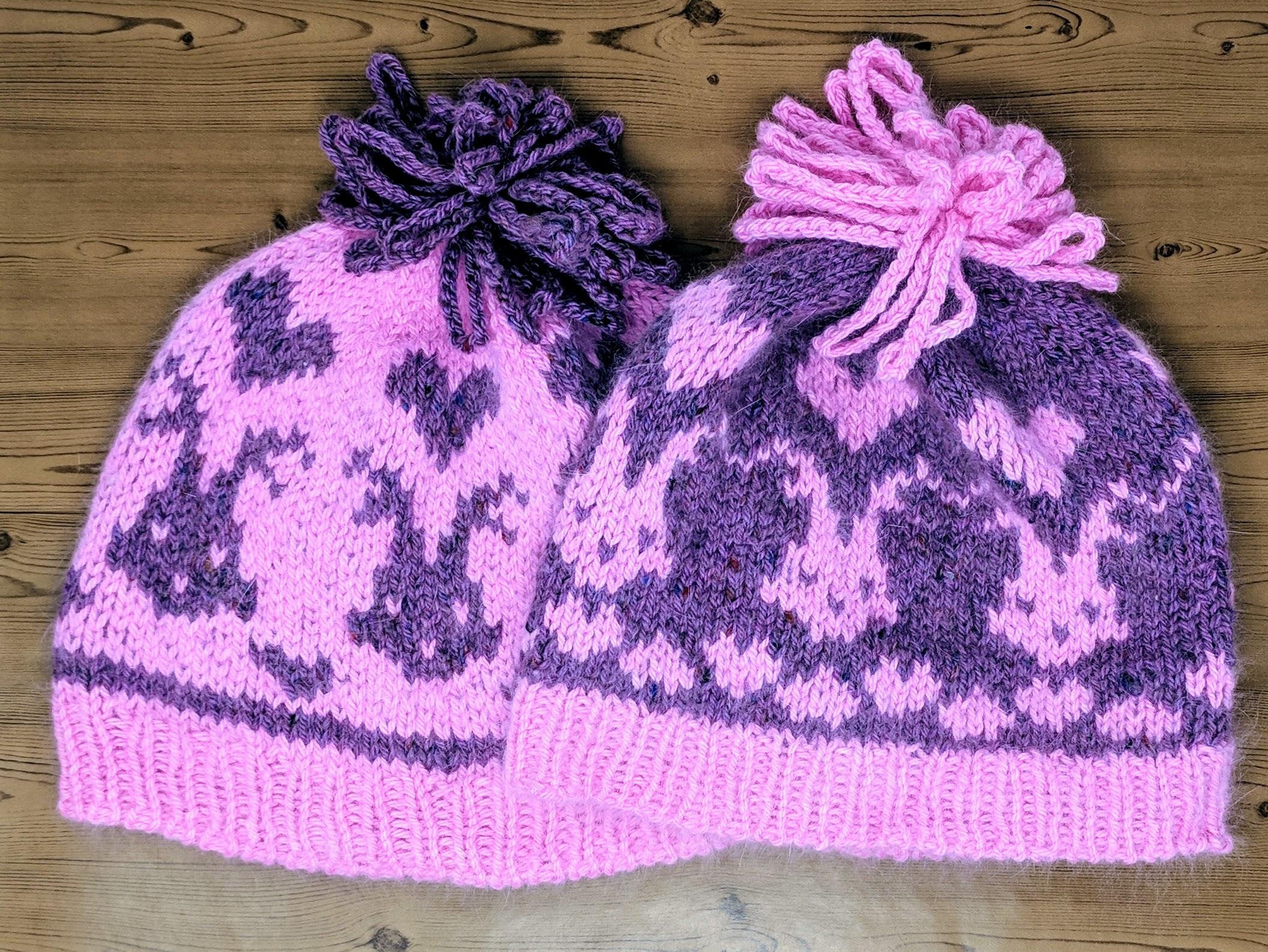 Bunny & Hearts Hats