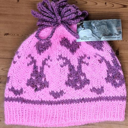 Bunny & Hearts Blushing Pink Hat