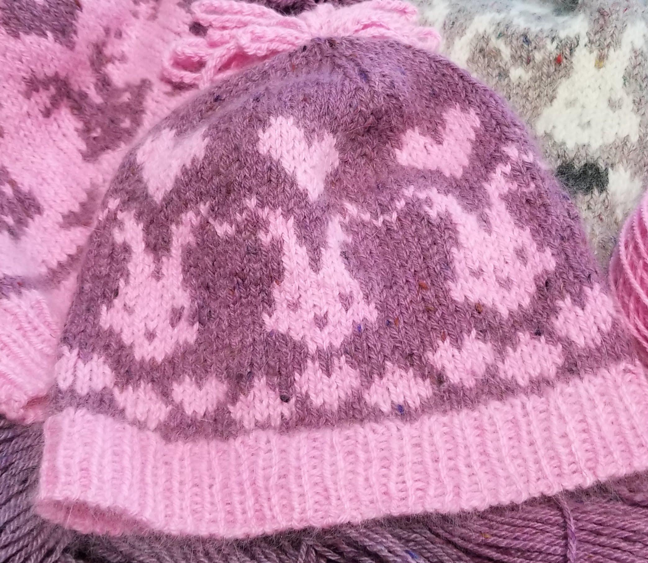 Bunny & Hearts Hat