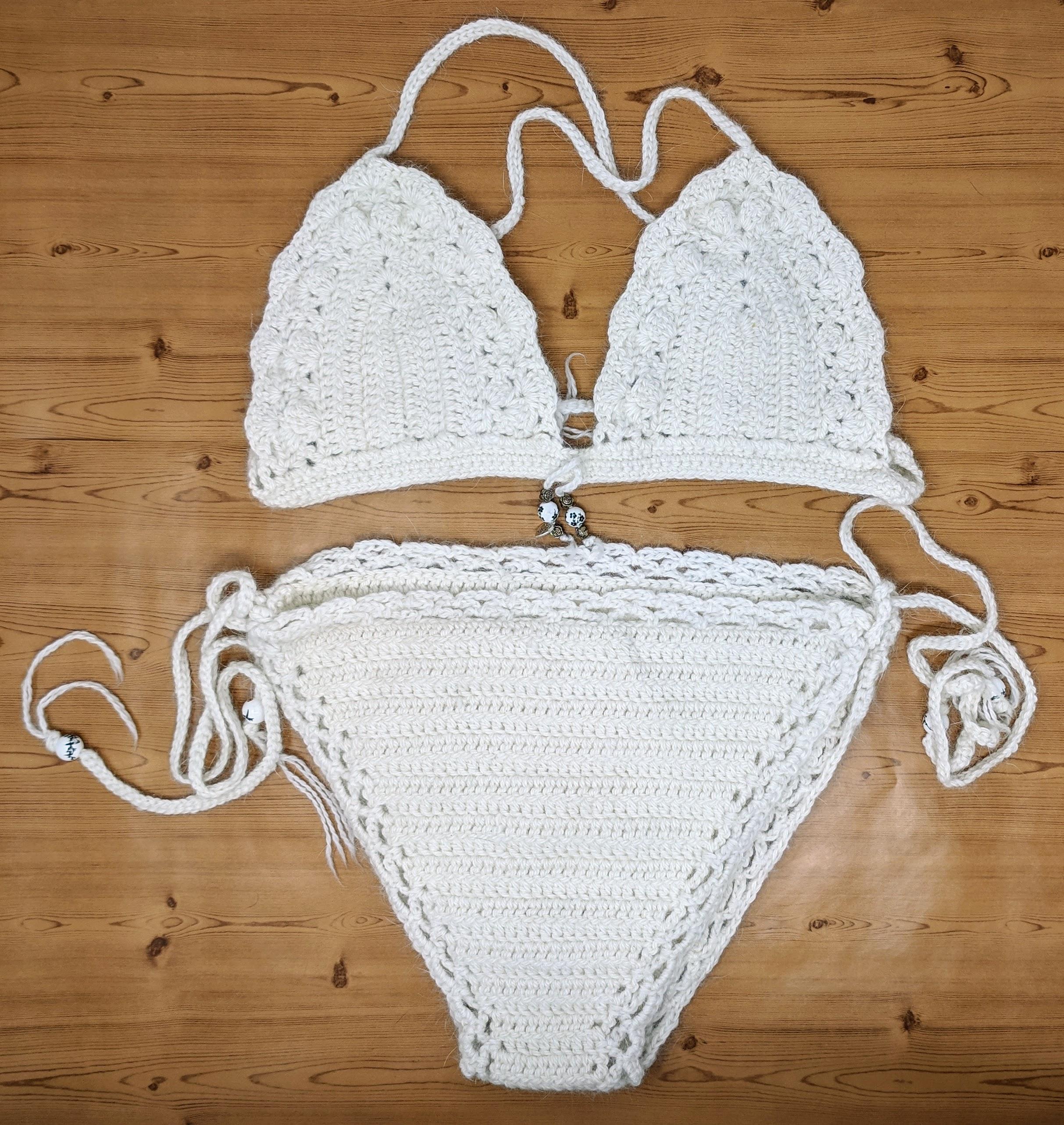 Angora Bikini White