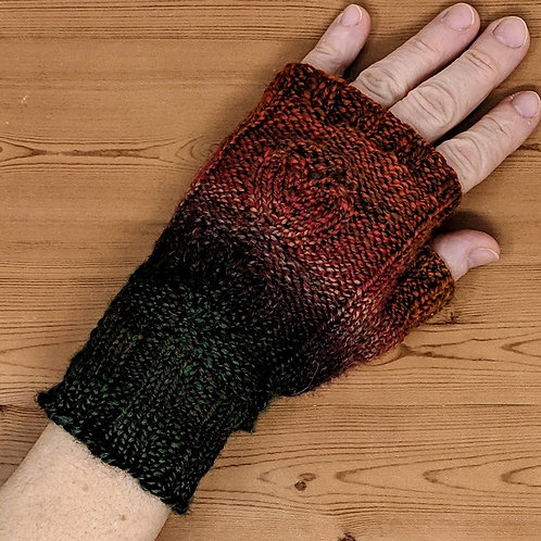 Fingerless Gloves With Sock Wool (S/Adult)
