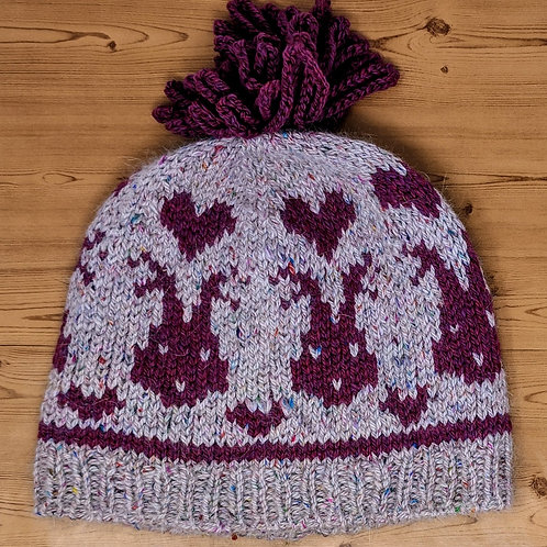 Love Bunnies & Hearts Hat