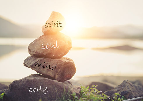 Holistic health concept of zen stones /