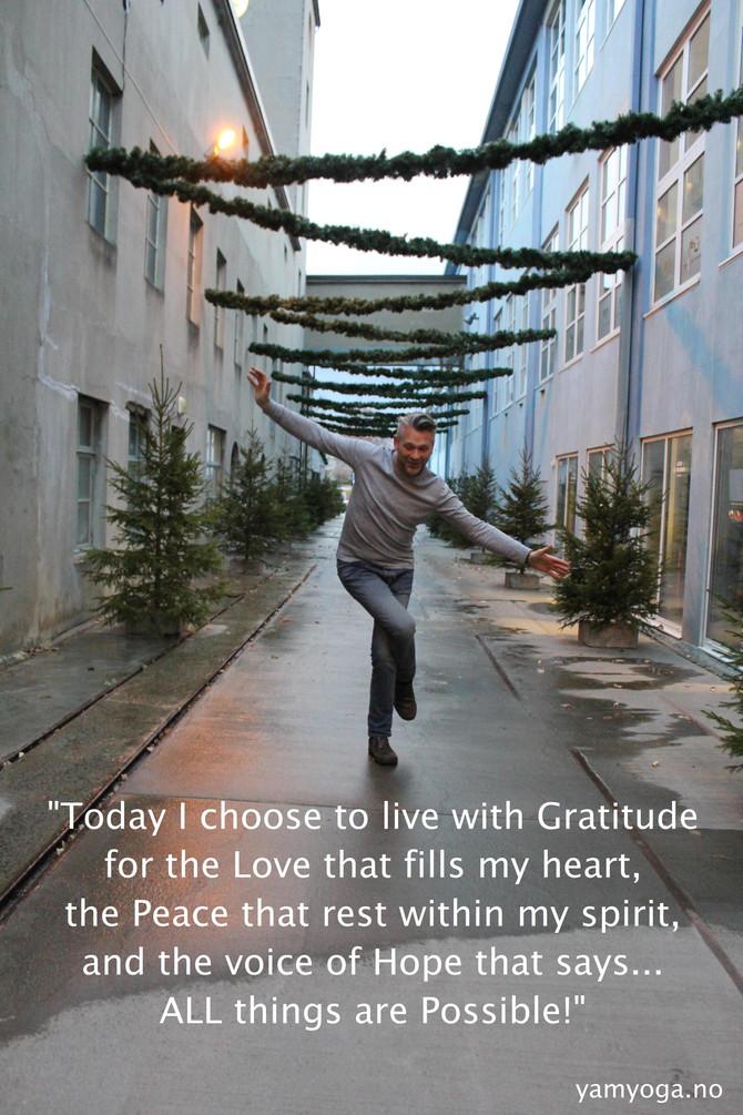 The attitude of Gratitude – Takknemlighet i livet
