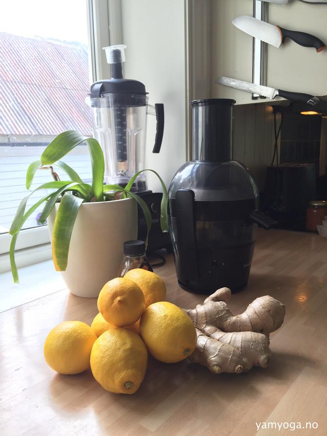 YamYogas tips - oppskrift på deilig sitron-te