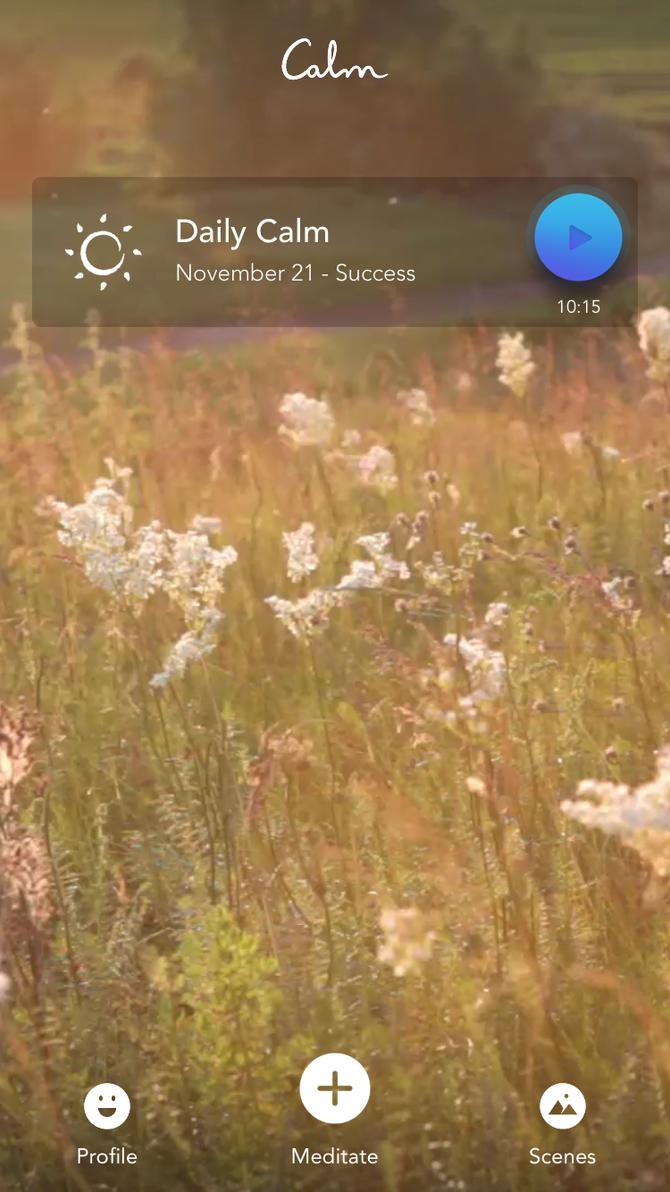YamYogas tips - litt stillhet i hverdagen med appen Calm
