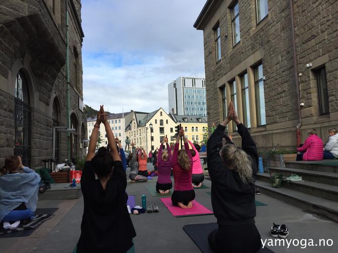 Verdens YogaDag med YamYoga - i Ålesund og New York!